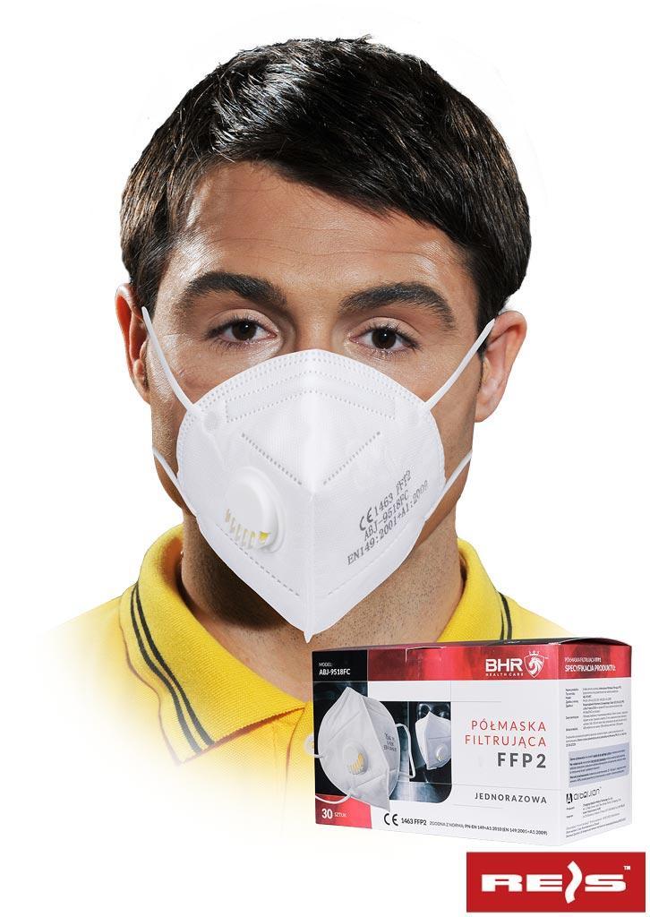 Пилозахисна маска з клапаном MAS-S-FFP2VABJ W