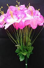 Искусственные цветы Нарцис с травкой 20 шт Розовые