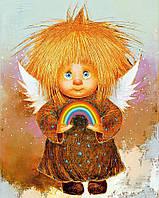 """Набор для рисования картин по номерам """"Рыжий Ангел - Радуга счастья"""""""