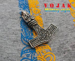 Кулон серебряный Молот Тора