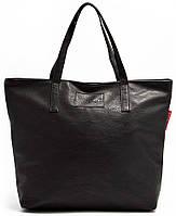 Стильная женская сумка из кожзаменителя POOLPARTY pool88-black-PU черная