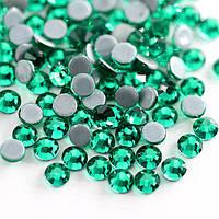 Стрази А+ Premium Green Zircon SS20 (4.8-5.0 мм) термоклеевие. Ціна за 144 шт., фото 1