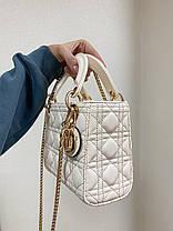 """Сумка Dior Lady Beige mini """"Бежевая"""", фото 2"""