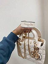 """Сумка Dior Lady Beige mini """"Бежевая"""", фото 3"""