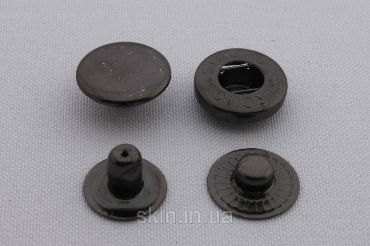 Кнопка альфа, діаметр - 15 мм, колір - чорний нікель, в упаковці - 20 шт, артикул СК 5722