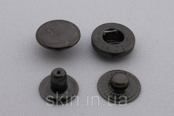 Кнопка альфа, діаметр - 15 мм, колір - чорний нікель, в упаковці - 20 шт, артикул СК 5722, фото 2