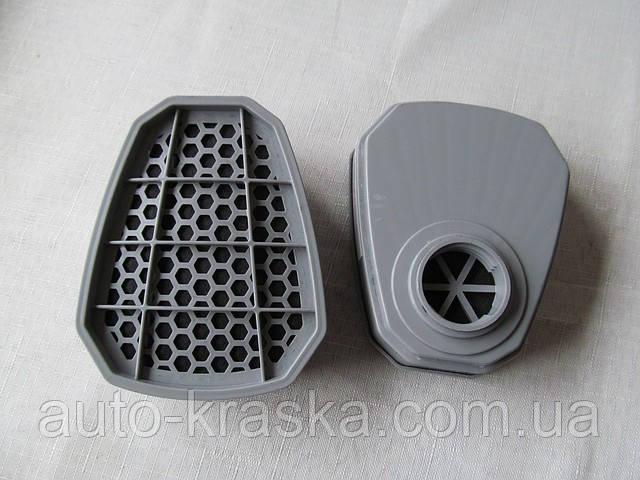 Фильтр угольный(крепление-байонет) для респиратора 2шт. (аналог 3М).