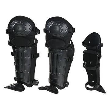 Наколенники комплексные для защиты колен и голени ANTI RIOT LEG PROTECTION Черные