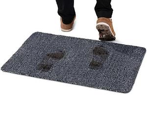 Придверный cупервпитывающий Коврик Clean Step Mat 46 х 67 см (серый)