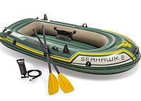 """Надувная двухместная лодка Intex """"Seahawk 2 SET"""", 68347, с насосом и вёслами, 236*114*37 см"""