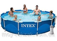 Бассейн каркасный круглый Intex 28212, фильтр - насос в комплекте, 366*76см
