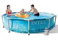 Бассейн каркасный круглый Intex 28208, фильтр - насос в комплекте, 305*76см