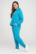 Бірюзовий спортивний костюм, кофта та штани, фото 2