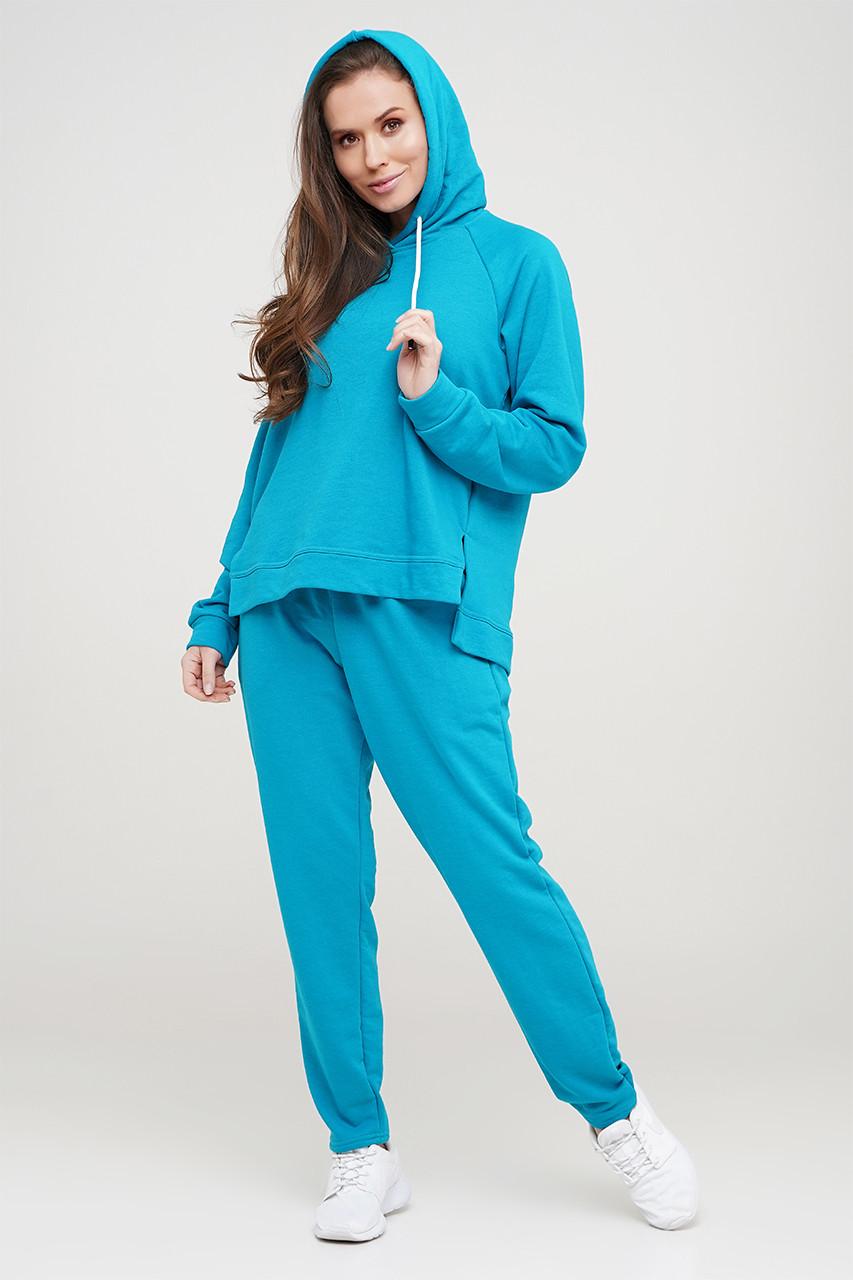 Бірюзовий спортивний костюм, кофта та штани