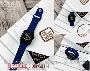Смарт часы наручные Modfit T500 черные с синим ремешком / смарт часы модфит