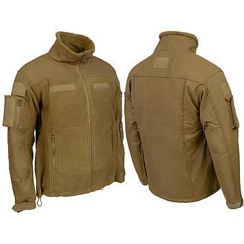 """Куртка тактическая флисовая Fleece Jacket """"Combat"""" Темный койот"""