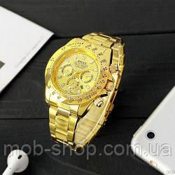 Наручний годинник Rolex Daytona Quartz Date All Gold