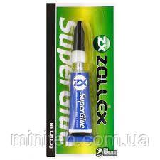 Супер клей SuperGlue (Планшет 12 шт по 3 г) (ZOLLEX)