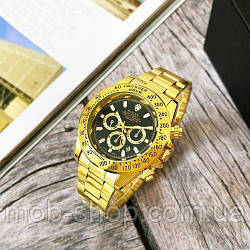 Наручний годинник Rolex Daytona Quartz Date Gold-Black