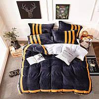Теплый  плюшевый постельный комплект, микрофибра плюш, теплый комплект постельного белья