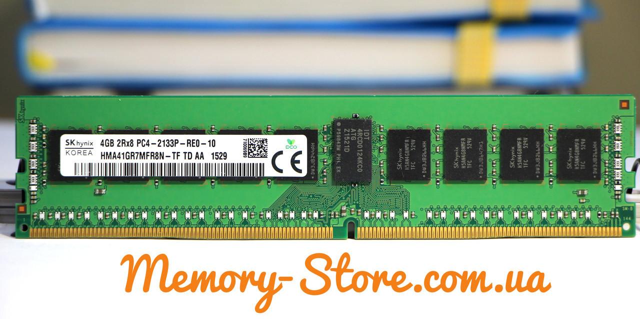 Оперативна пам'ять для сервера/ПК DDR4 4GB PC4-17000 (2133MHz) DIMM ECC Reg CL15, Hynix
