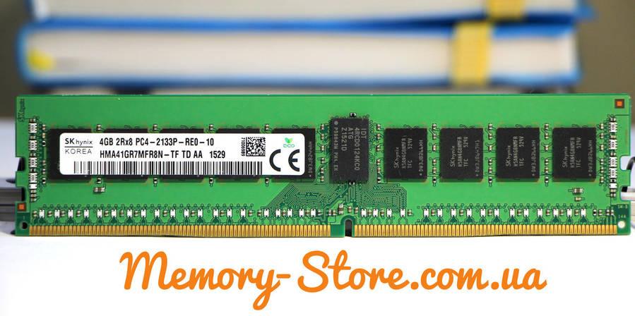 Оперативна пам'ять для сервера/ПК DDR4 4GB PC4-17000 (2133MHz) DIMM ECC Reg CL15, Hynix, фото 2