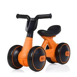 Детский беговел с музыкальными эффектами Bambi Mini M 4086-7, оранжевый