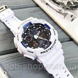 Наручний годинник Casio G-Shock GA-100 White-Blue-Black