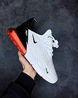 Мужские кроссовки Nike Air Max 270 White\Red найк аир макс 270 реплика