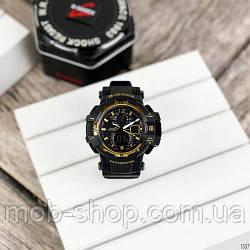 Наручний годинник Casio G-Shock GW-A1100 Black-Gold