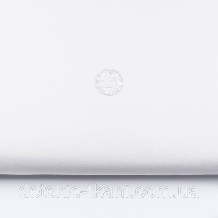 Однотонная бязь белого цвета, плотность 140 г/м2, ширина 150 см (Украина)