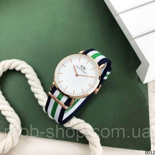 Наручний годинник Daniel Wellington Textile Blue-White-Cuprum