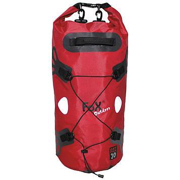 Баул водонепроницаемый 30л Fox Outdoor «DRY PAK 30» Красный