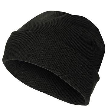 Шапка в'язана з відворотом MFH Watch Hat Чорна