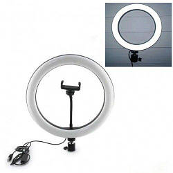 "Кольцевая LED лампа USB 30cm для селфи 12"" 028 RING LIGHT"