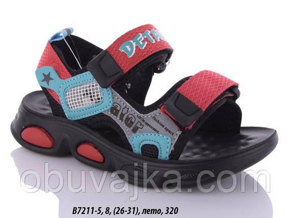 Дитяче літнє взуття 2021 оптом. Дитячі босоніжки бренду GFB для хлопчиків (рр. з 26 по 31), фото 2