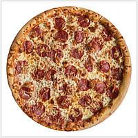 Плед флисовый, рисунок пицца