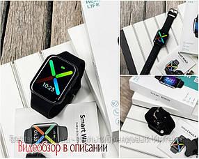 Смарт часы наручные Modfit T68 All Black черные / смарт часы модфит