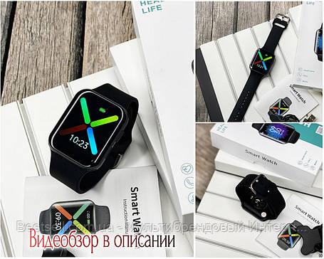 Смарт годинники наручні Modfit T68 All Black чорні / смарт годинник модфит, фото 2