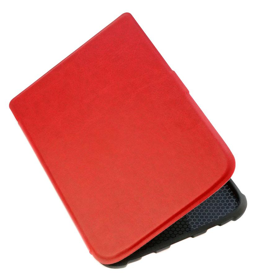 Чехол для PocketBook 628 Touch Lux 5 красный – обложка на электронную книгу Покетбук