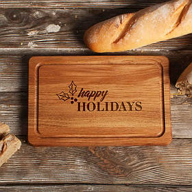 """Дошка обробна """"Happy holidays"""" S"""