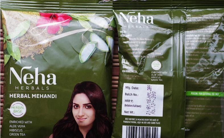 Хна для фарбування волосся 28 грам NEHA
