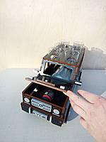 Подарок Мини бар Кубик Гелик джип деревянный сувенир ручной работы для мужчин