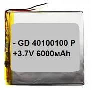 Оригинальный Универсальный Внутренний Аккумулятор АКБ 40x100x100 (6000 мАh) АААА Класс