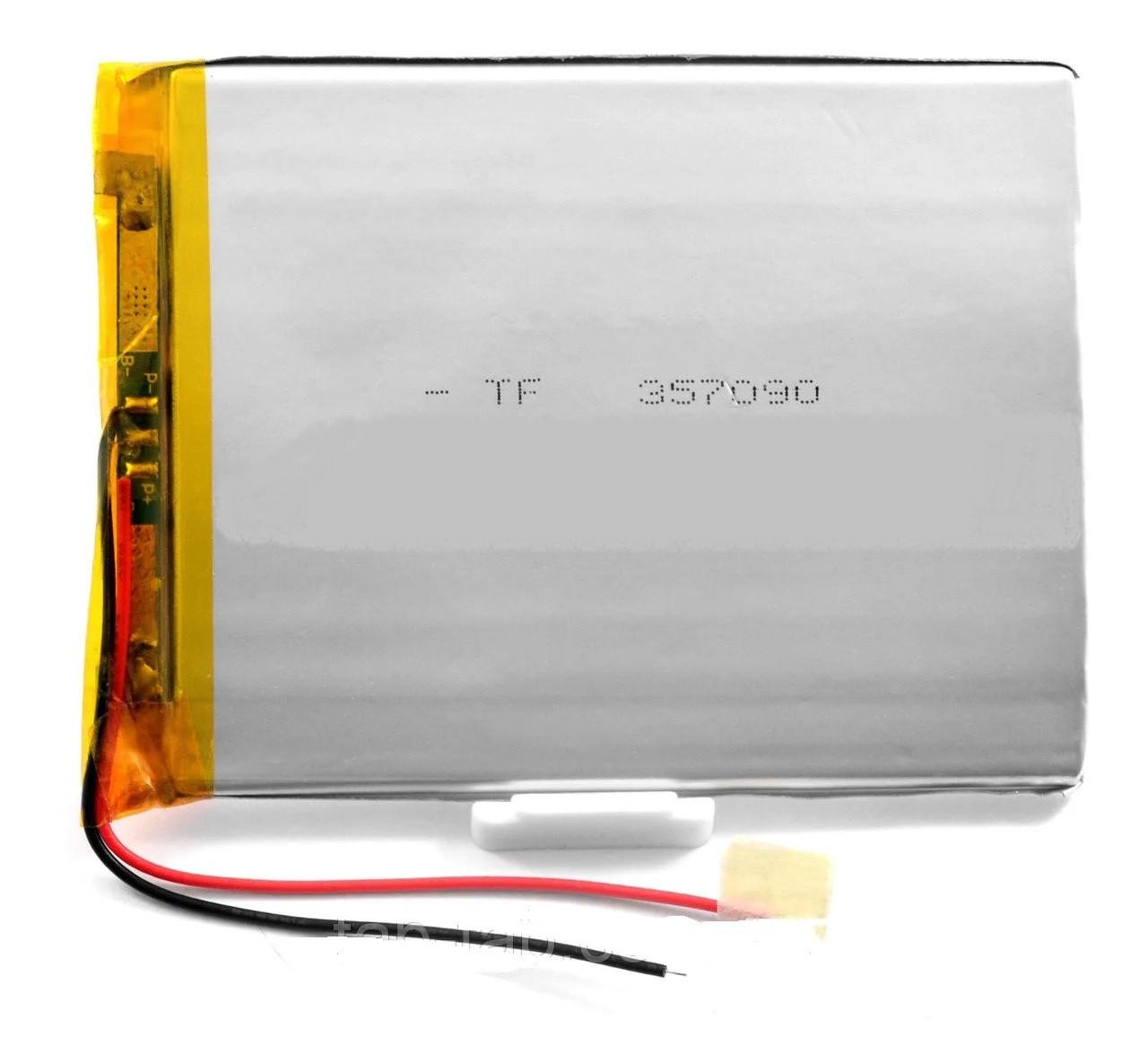 Оригінальний Універсальний Внутрішній Акумулятор АКБ 2969100P 100х70х3 2 pin (Li-ion 3.7v 3300mAh)