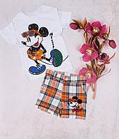 Дитячий трикотажний костюм з шортами МІККІ для хлопчика 1-5 років,колір уточнюйте при замовленні, фото 1
