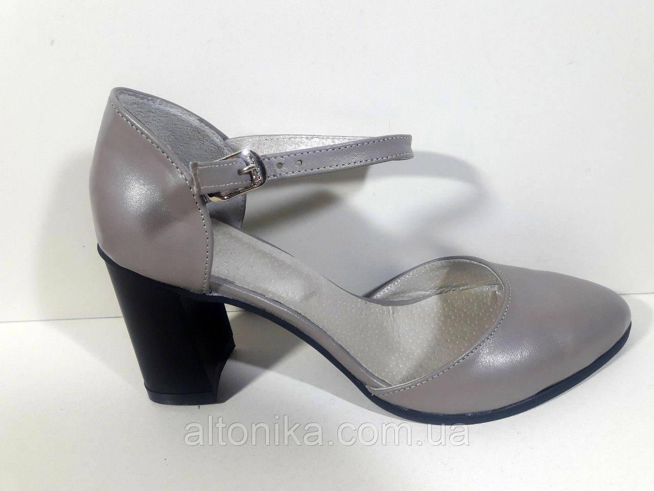 STTOPA Размеры 33-44. Туфли кожаные больших размеров. Каблук 8 см. С7-16-3344-85