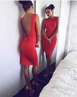 Красивое платье с открытой спинкой, декорировано бантиком