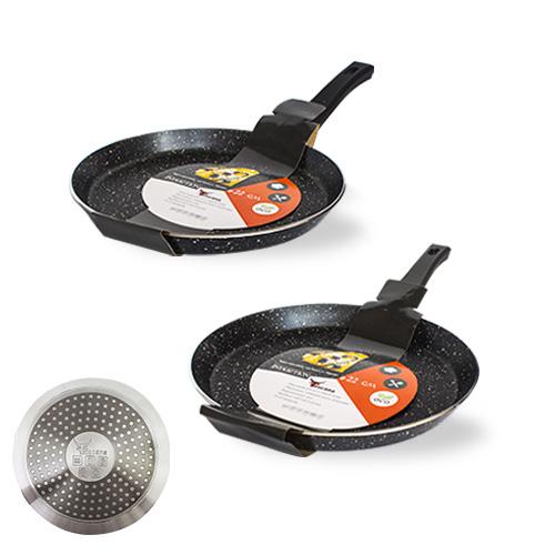Сковорода для блинов с антипригарным мраморным покрытием Hi-Tech 22см