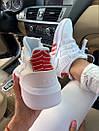 Женские кроссовки Adidas  Bask ADV White Red, фото 3